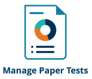 Link to instructions for managing paper tests.