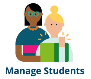 Link to instructions for managing students.